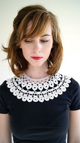 Lace collar necklaces