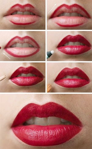 Lipstick outline tutorial