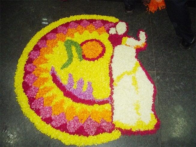 Onam festival rangoli