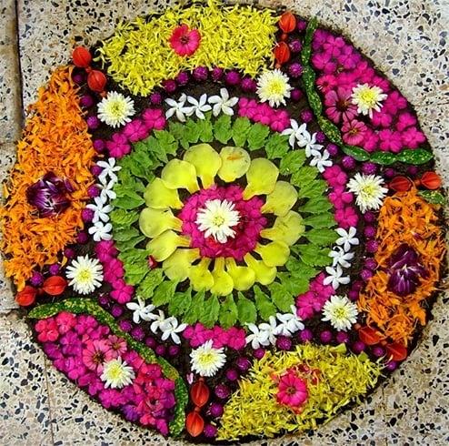 Onam Flower Rangoli