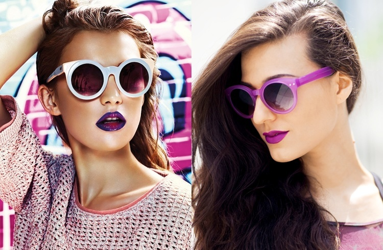 Purple Lipstick and Sunglasses