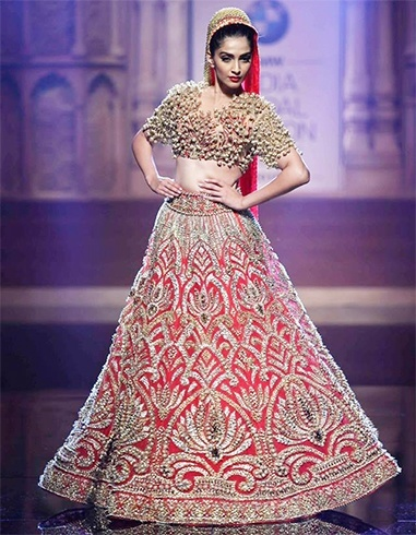 Sonam Kapoor at the BMW Indian Bridal Fashion Week