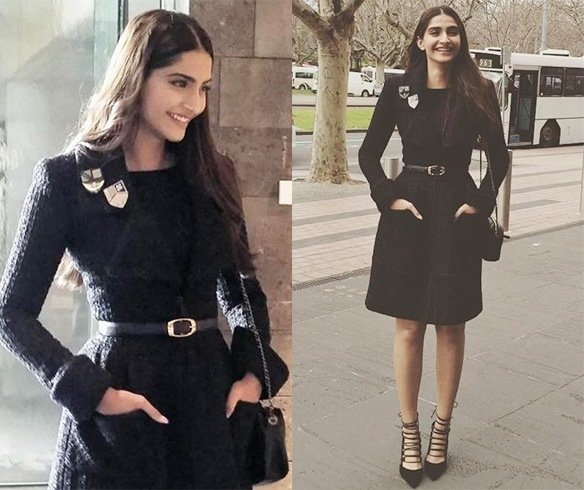 Sonam Kapoor in chanel jacket