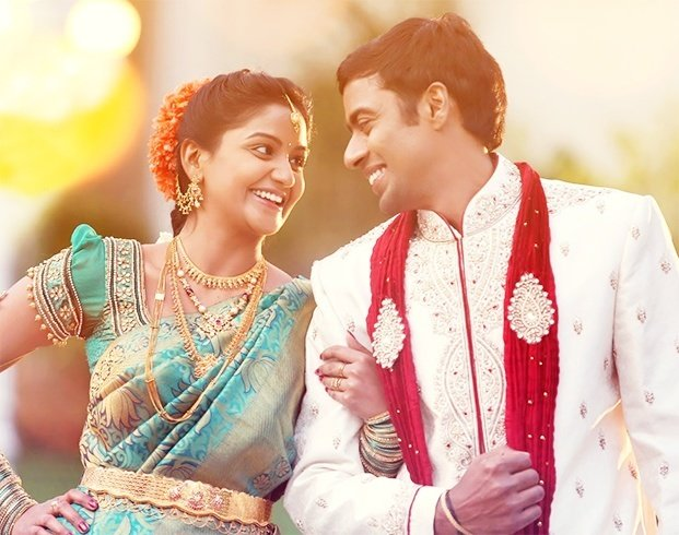 South Indian Bride and Groom Together