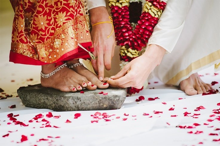Bridal Toe Ring Ceremony