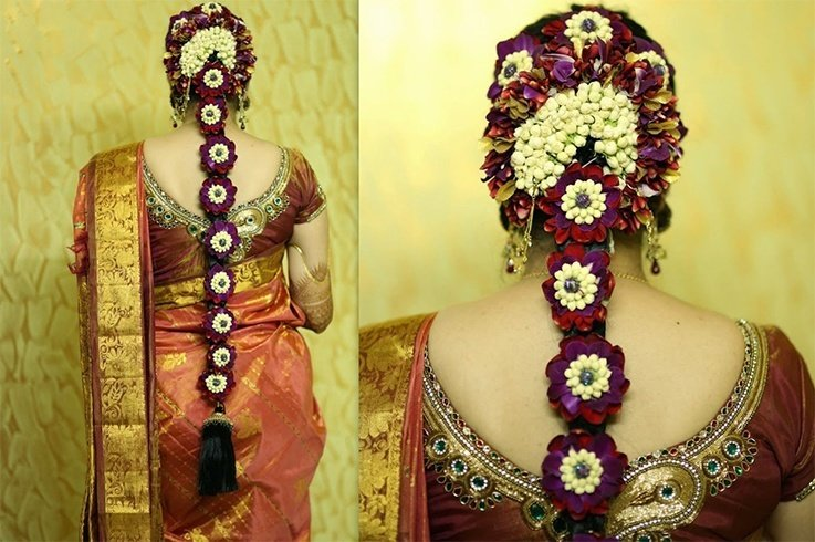 South Indian Traditional Hairstyle