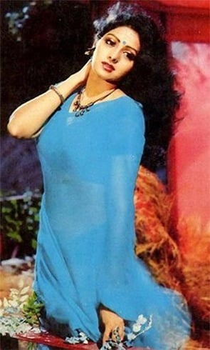 Sridevi Blue Saree