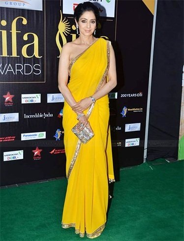 Sridevi in Manish Malhota saree