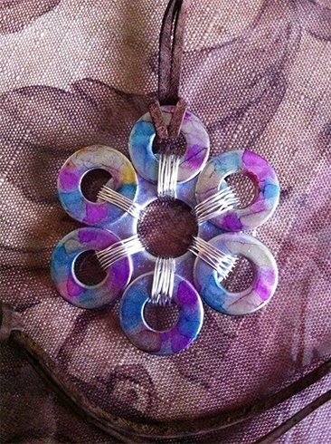 Washer Flower Necklace
