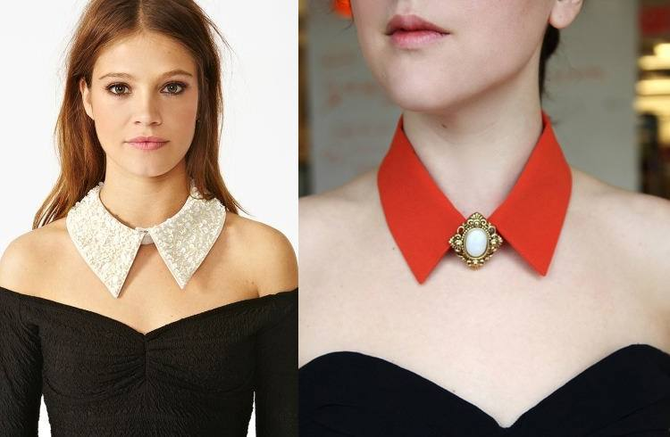 what to wear with collar necklace