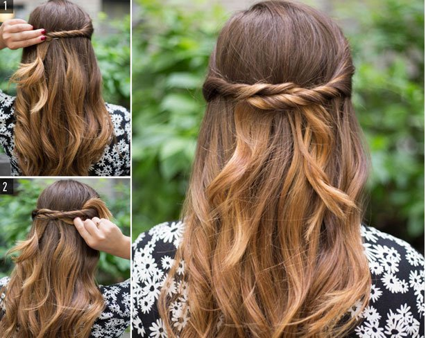 Image result for twisted halo hairstyle