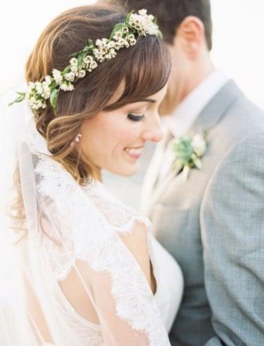 Best bridal floral crown