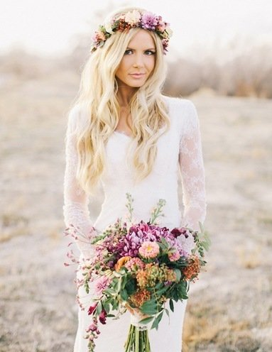 Best wedding flower crown