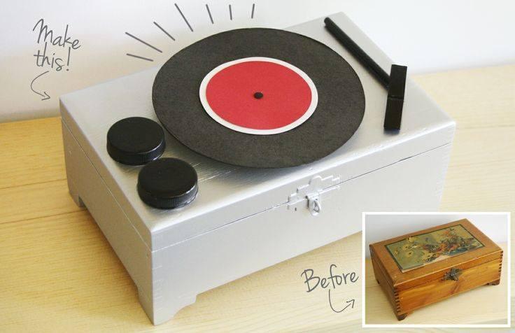 Record Player Jewelry Box