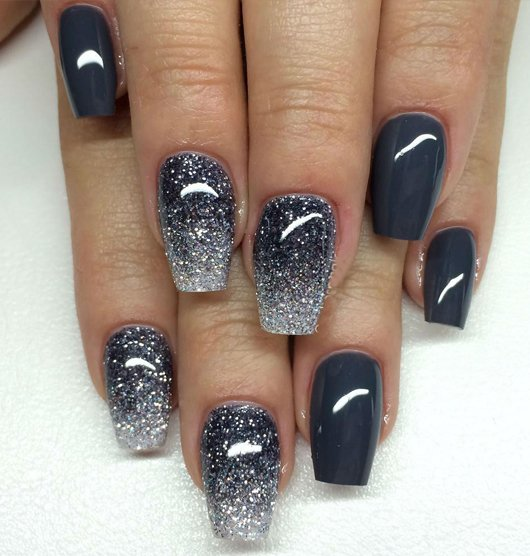 Christmas Acrylic Nails Grey: 130 Beautiful Nail Art Designs Just For You
