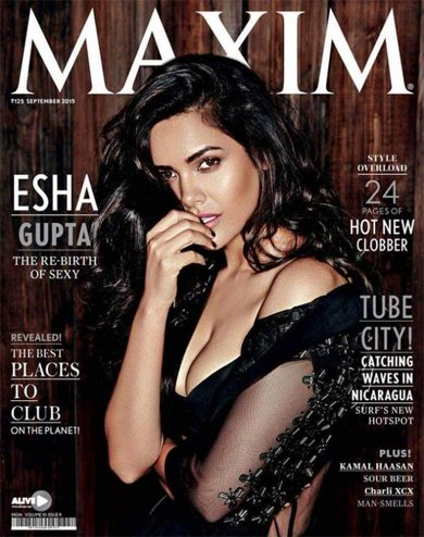 Esha Gupta Photoshoot for Maxim India September 2015