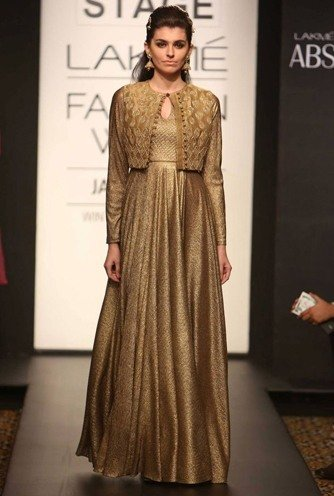Gold Anarkali for The Mother Of The Bride