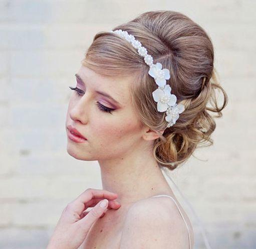 Headband hairstyles for medium hair