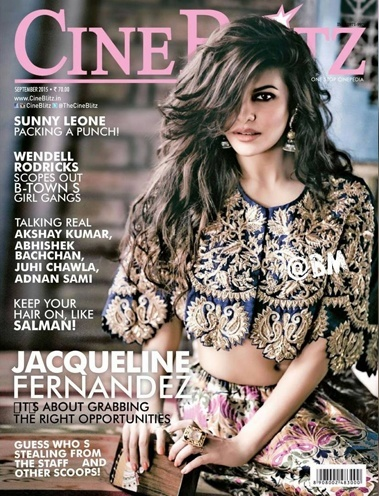 Jacqueline Fernandez sizzles on cover of September 2015