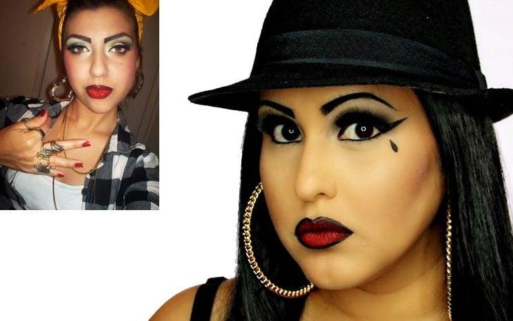 Mexican Chola Makeup