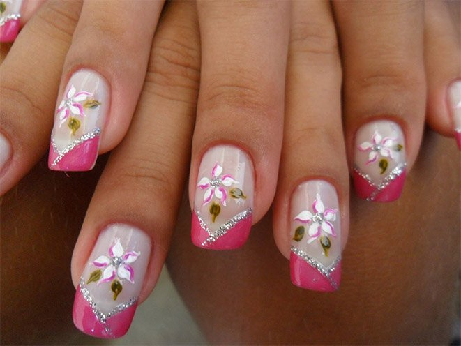 Nail Art Designs In Purple Images Easy Nail Designs For Beginners