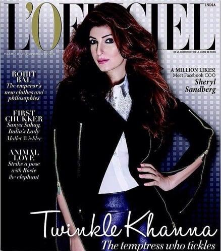 Namrata Soni Fabulous Twinkle Khanna for Lofficie Iindia Cover