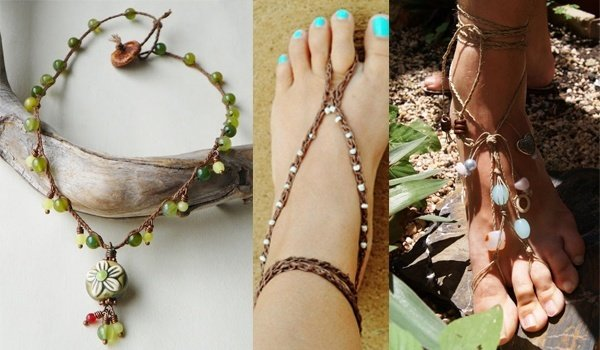 simple women foot summer anklets all popular wafer anklet western style turquoise