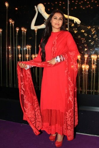 Rani Mukerji glows in red for first post-wedding
