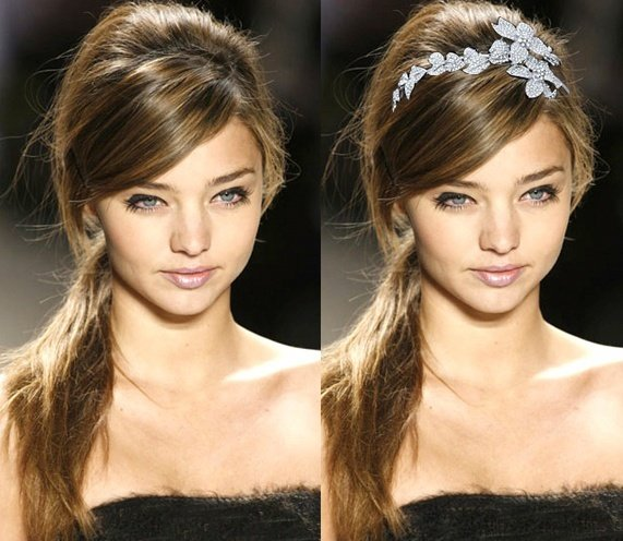 Short hairstyles with headbands