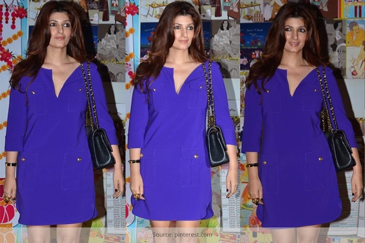 Twinkle Khanna In DvF At Sakshi Salve Book The Big Indian Wedding Launch