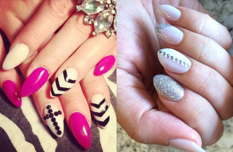 Almond shaped nails designs - Trend Alert: Bespoke Almond Shaped Nails
