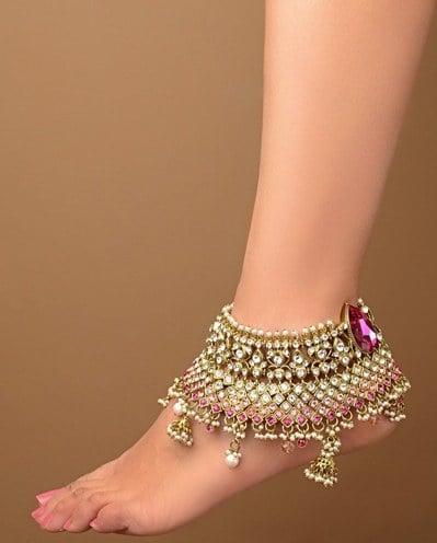 anklet jewellery designs