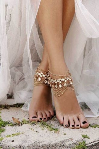 Anklet jewelry designs