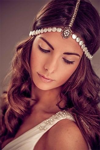 Bohemian wedding tiara