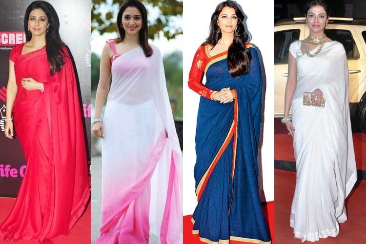 Celebrity Sarees Trend