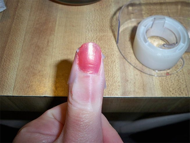 Cellophane tape for nails