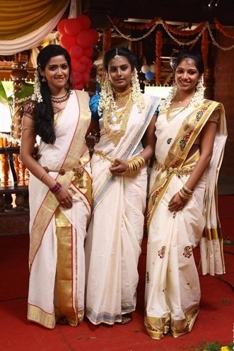christian wedding saree collections