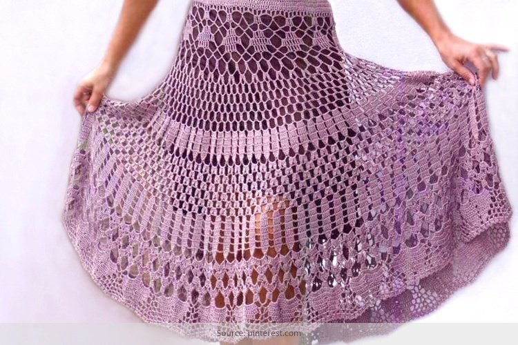 10 Beautiful Crochet Pattern Skirts You Could Wear In 2015