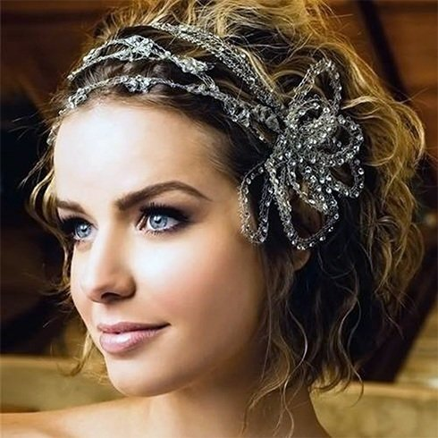 Curls with chunky headband