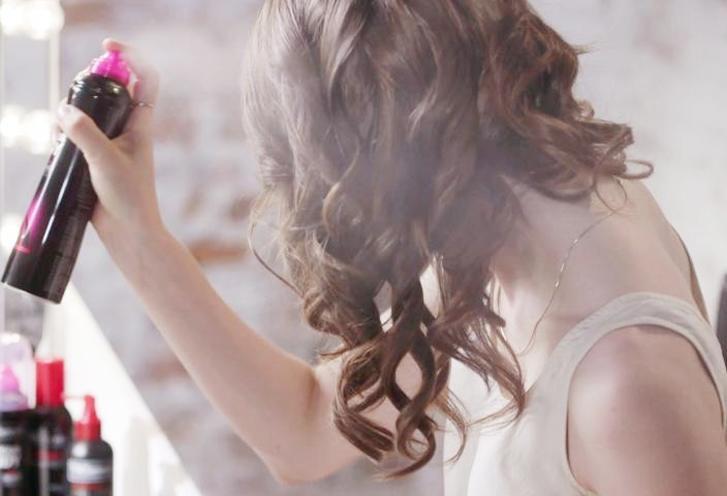 curly hair spray