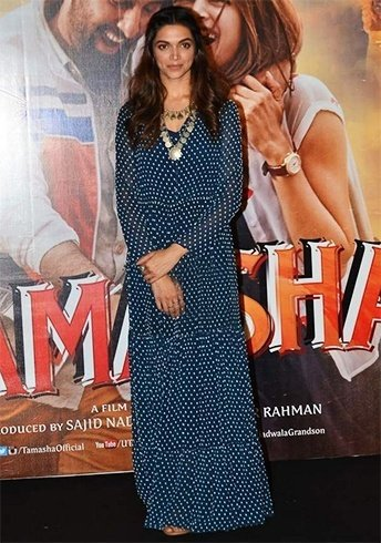 Deepika Padukone in polka dot maxi dress