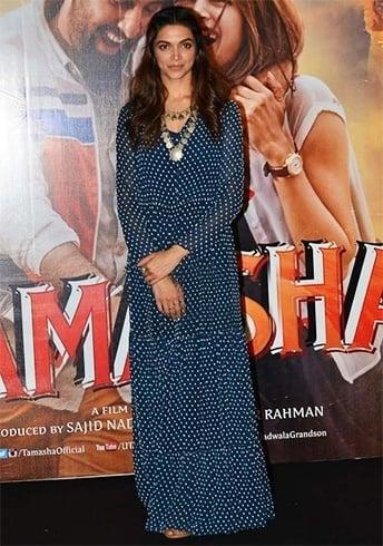 Deepika Padukone in polka dot maxi dress