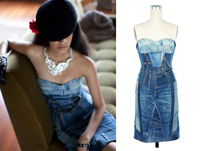 Denim cocktail dress