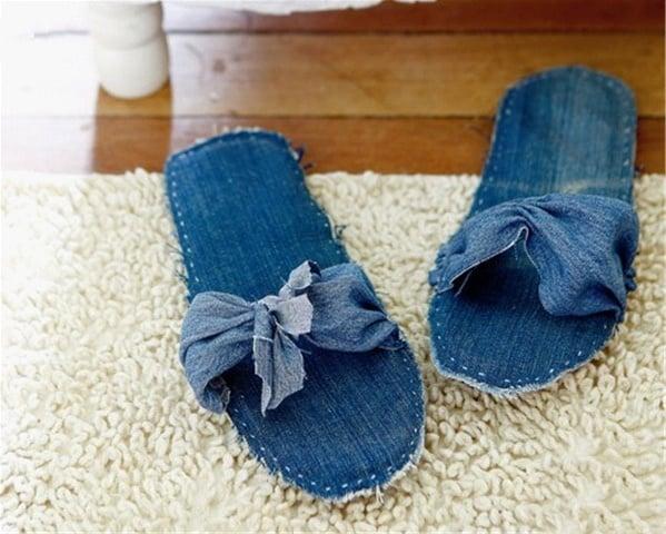 Denim flip-flops