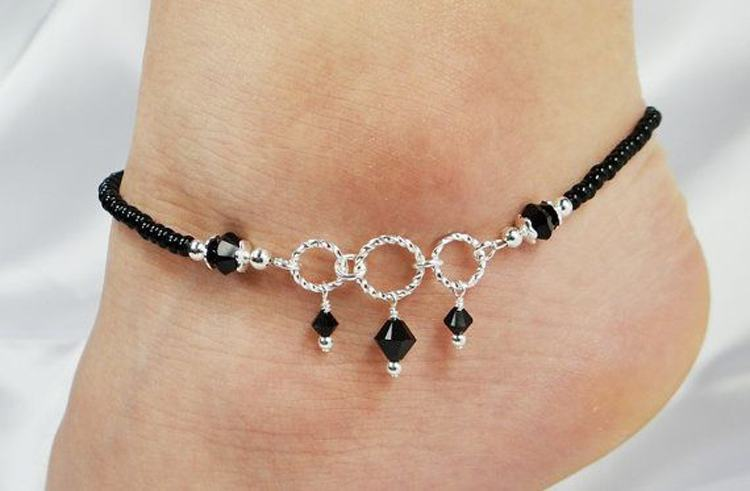 Black Diamond Anklet