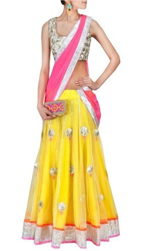 designer half saree collection