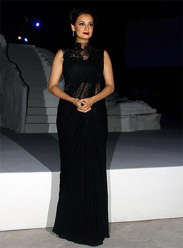 Dia Mirza in Gaurav Gupta Saree
