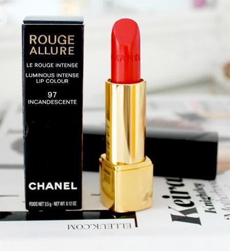 Different shades of orange lipsticks