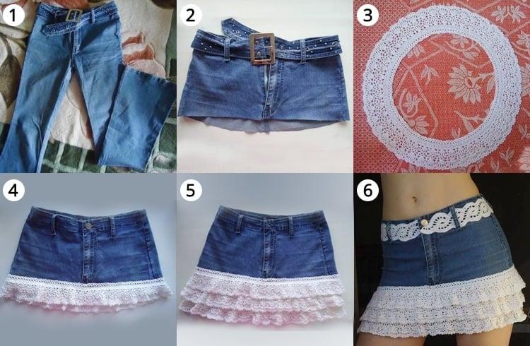DIY mini skirts