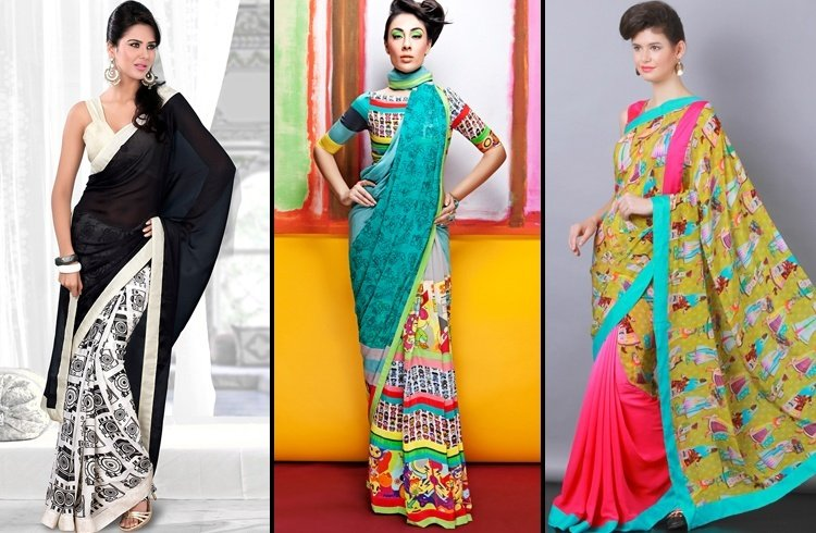 Eclectic Prints saree